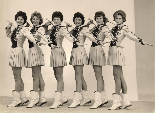 Image of vintage photo of Fayetteville High School majorettes